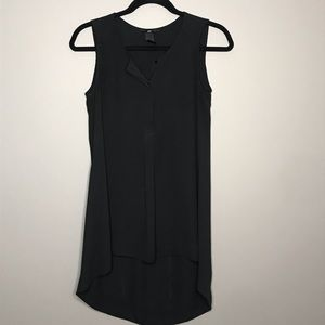 H&M long black semi sheer hi lo sleeveless top